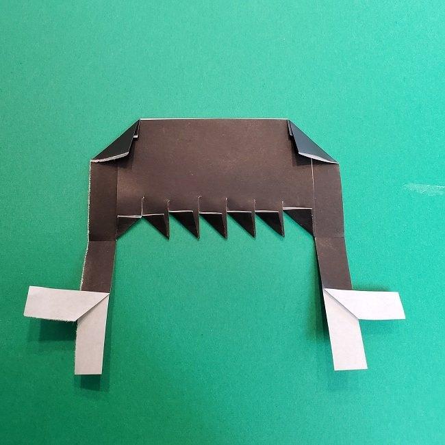 きめつのやいばの折り紙 真菰の折り方作り方②髪 (13)