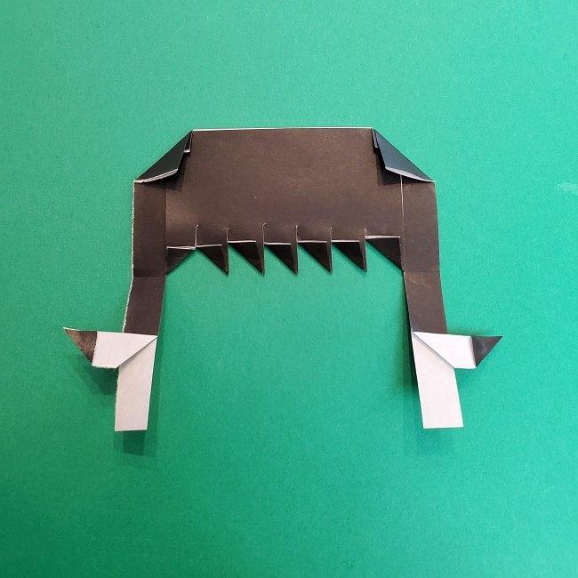 きめつのやいばの折り紙 真菰の折り方作り方②髪 (14)