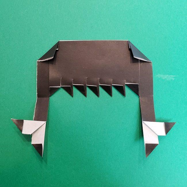 きめつのやいばの折り紙 真菰の折り方作り方②髪 (15)