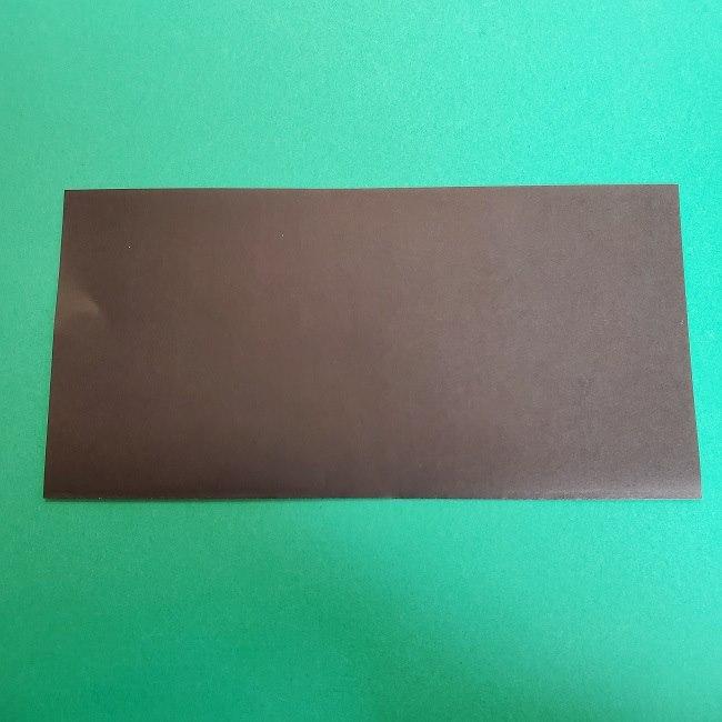きめつのやいばの折り紙 真菰の折り方作り方②髪 (2)