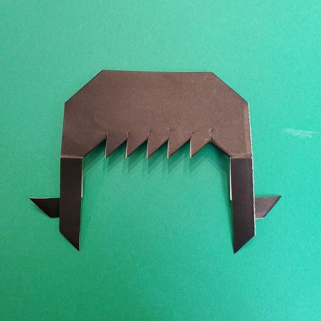 きめつのやいばの折り紙 真菰の折り方作り方②髪 (21)