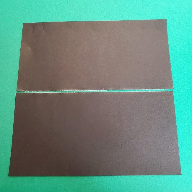 きめつのやいばの折り紙 真菰の折り方作り方②髪 (3)