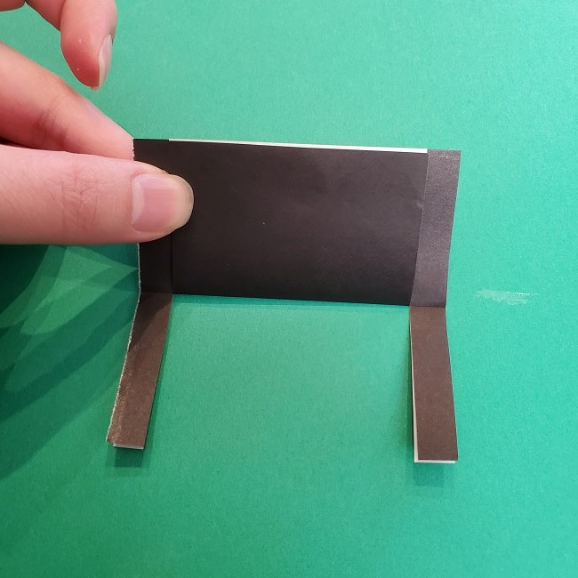 きめつのやいばの折り紙 真菰の折り方作り方②髪 (9)