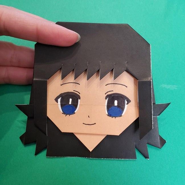 きめつのやいばの折り紙 真菰の折り方作り方⑤完成 (13)