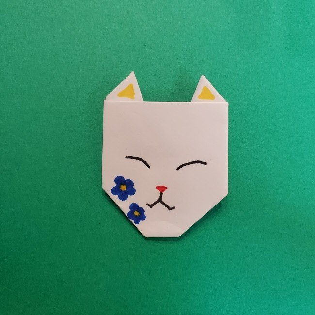 きめつのやいばの折り紙 真菰の折り方作り方⑤完成 (14)