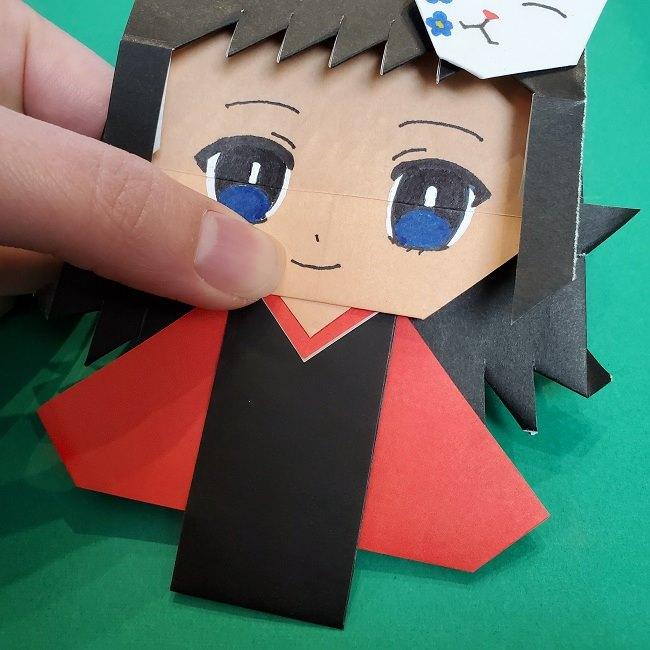 きめつのやいばの折り紙 真菰の折り方作り方⑤完成 (21)
