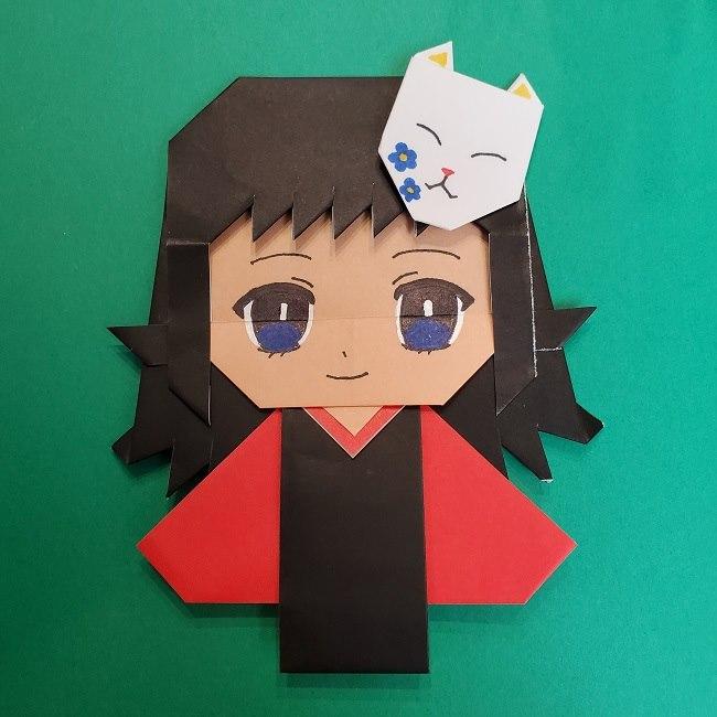 きめつのやいばの折り紙 真菰の折り方作り方⑤完成 (23)