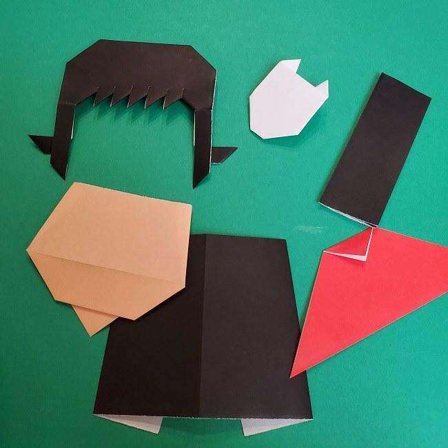 きめつのやいばの折り紙 真菰の折り方作り方5完成