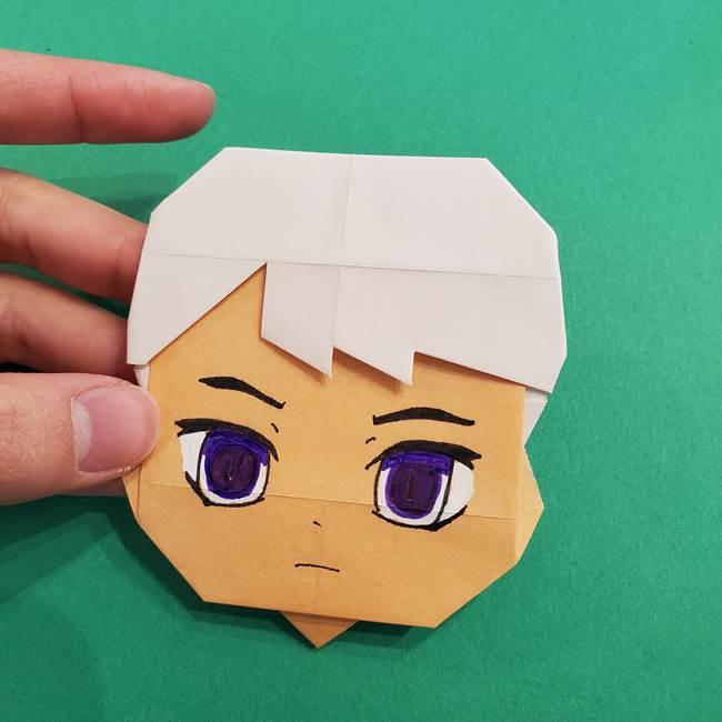 きめつのやいば折り紙 ゆしろうの折り方作り方4(10)