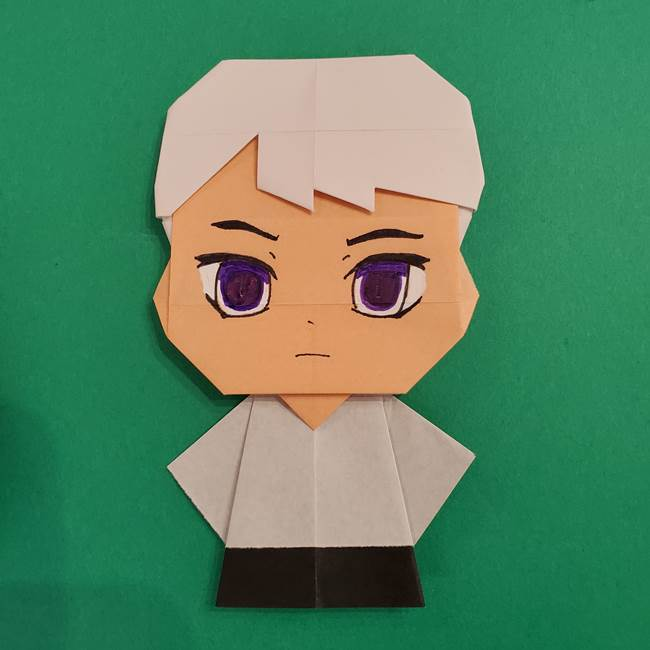 きめつのやいば折り紙 ゆしろうの折り方作り方4(12)