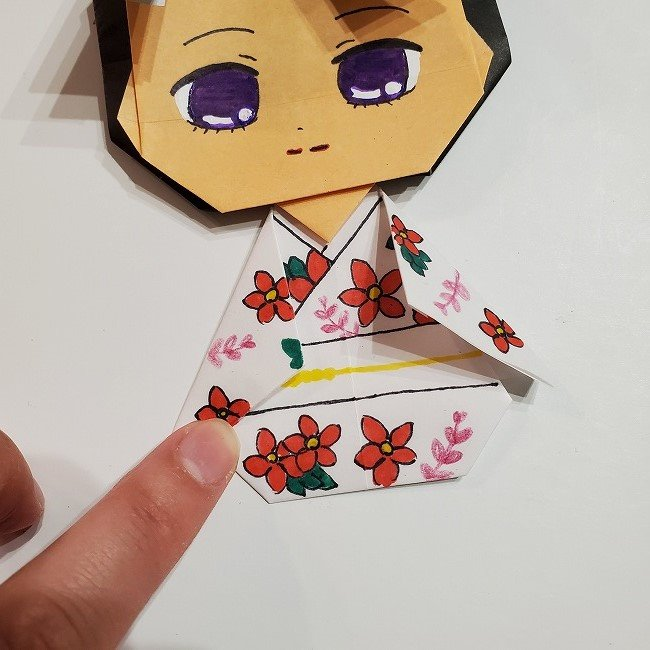 きめつのやいば 折り紙のたまよ*折り方作り方4完成 (18)