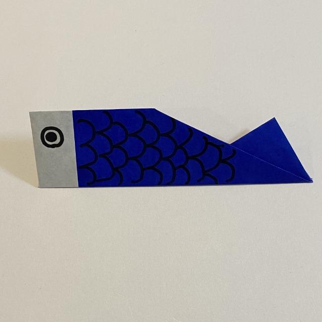 こいのぼりの折り紙(年少さんの製作) 折り方作り方 (9)