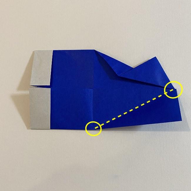 こいのぼりの折り紙(年少さんの製作) 折り方作り方7 (1)