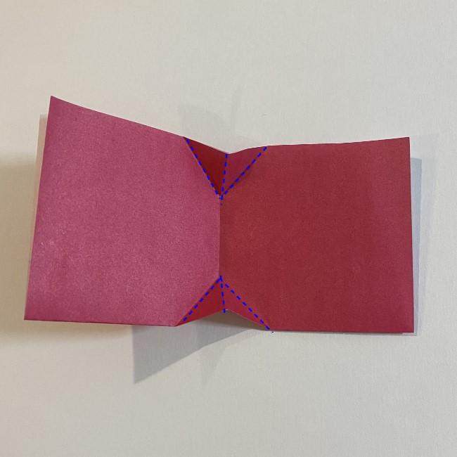 さくらんぼの折り紙の作り方折り方は簡単♪ (10)