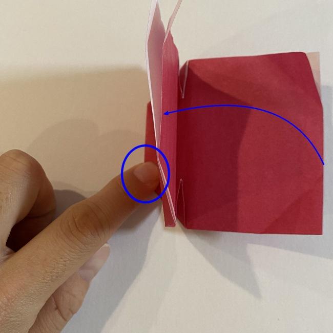 さくらんぼの折り紙の作り方折り方は簡単♪ (13)