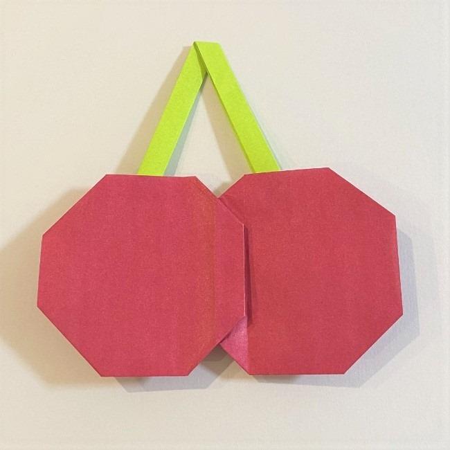 さくらんぼの折り紙の作り方折り方は簡単♪ (17)