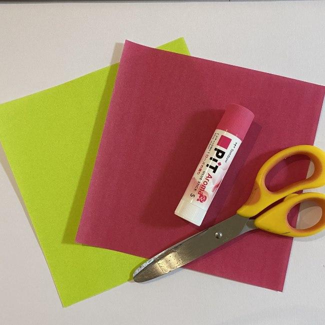 さくらんぼの折り紙は簡単!用意するもの