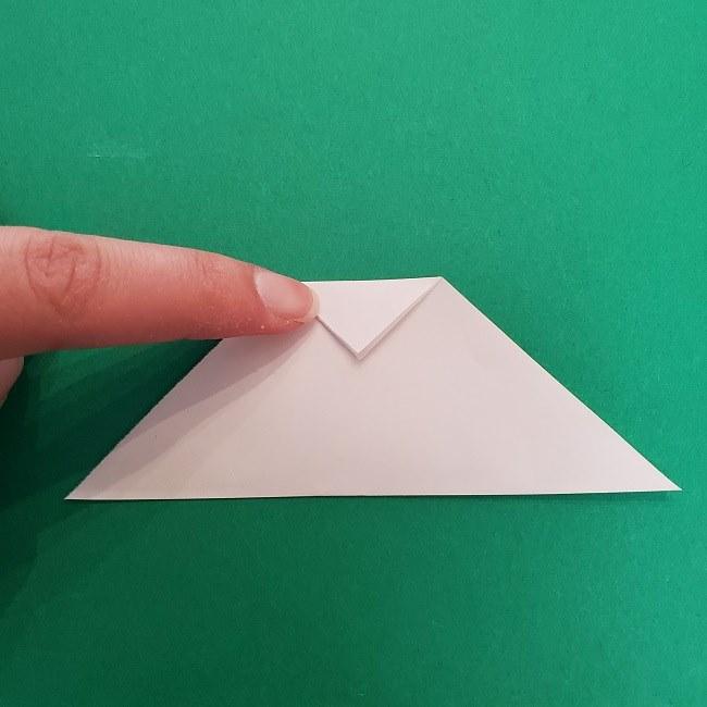 さびとのお面の折り紙折り方 (3)