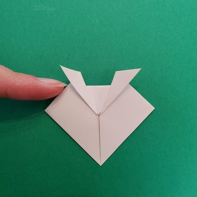 さびとのお面の折り紙折り方 (5)