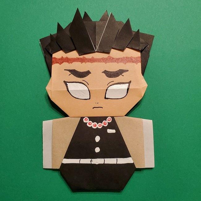 ひめじまぎょうめいの折り紙(悲鳴嶼行冥)の折り方作り方★きめつのやいばキャラクター