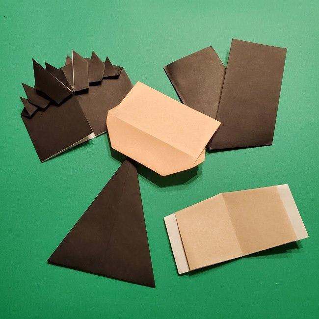 ひめじまぎょうめいの折り紙 折り方作り方4羽織 (12)