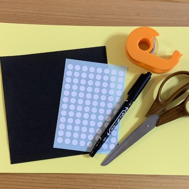 まっくろくろすけの折り紙*必要な物