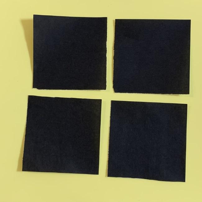 まっくろくろすけの折り紙 折り方作り方 (1)