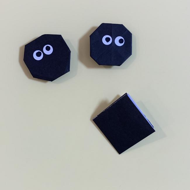 まっくろくろすけの折り紙 折り方作り方 (3)