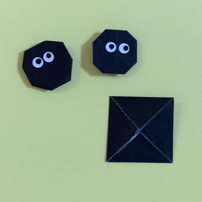 まっくろくろすけの折り紙 折り方作り方 (4)