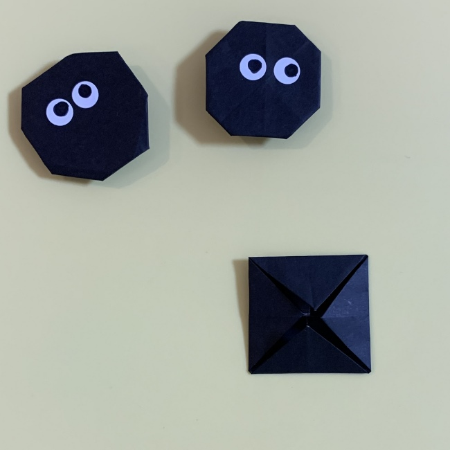 まっくろくろすけの折り紙 折り方作り方 (5)