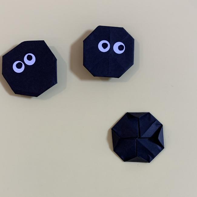 まっくろくろすけの折り紙 折り方作り方 (6)