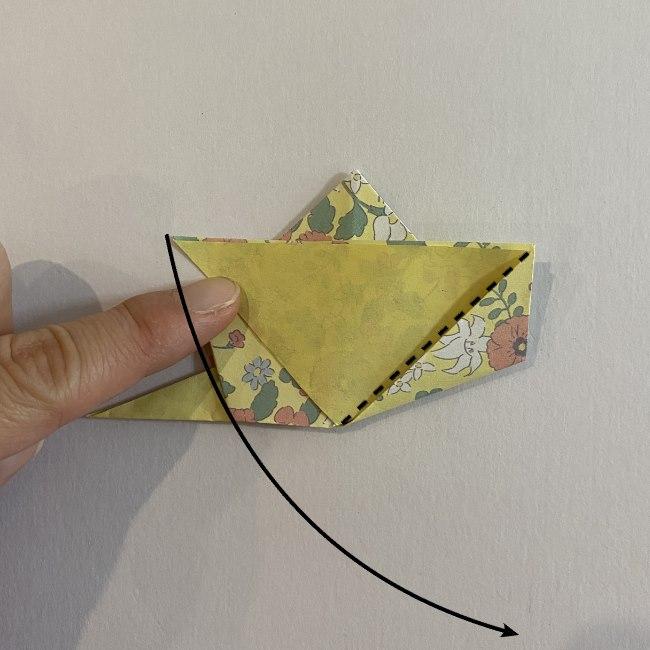 カタツムリの折り紙は保育園の製作にも☆折り方作り方 20 (2)