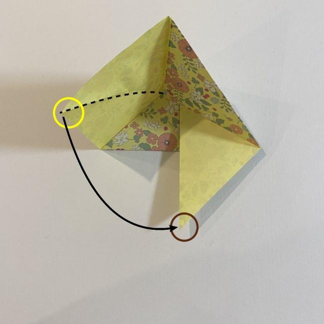 カタツムリの折り紙は保育園の製作にも☆折り方作り方 (8)