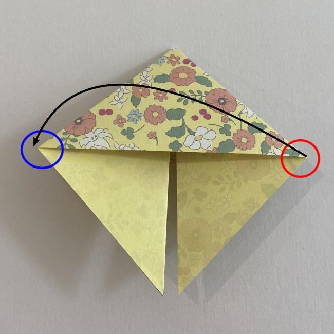 カタツムリの折り紙は保育園の製作にも☆折り方作り方11