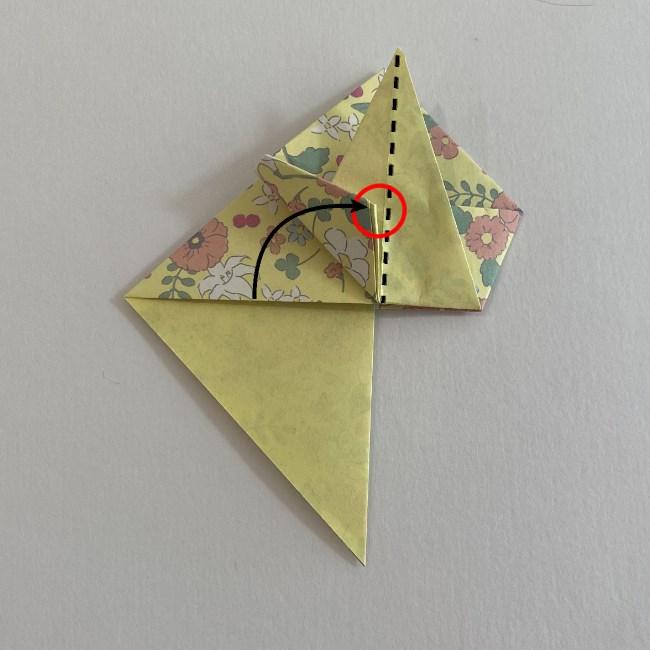 カタツムリの折り紙は保育園の製作にも☆折り方作り方15