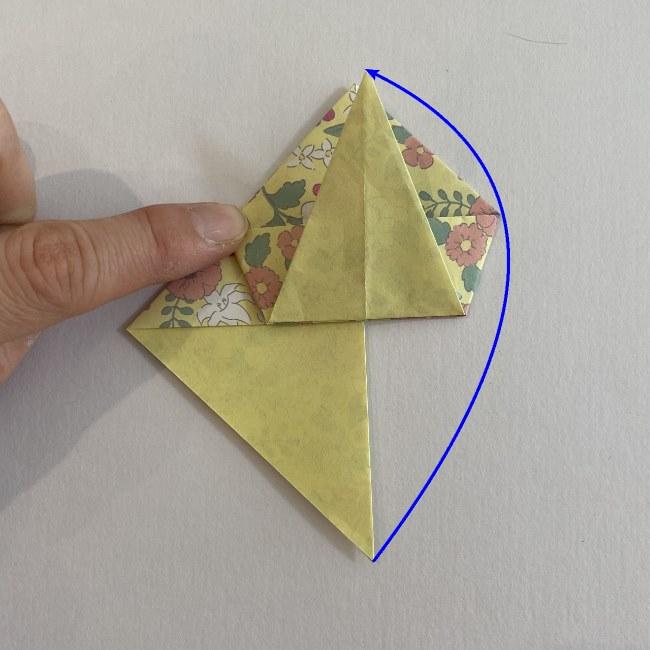 カタツムリの折り紙は保育園の製作にも!折り方作り方 (14)
