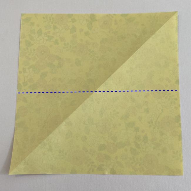 カタツムリの折り紙は保育園の製作にも!折り方作り方 (2)