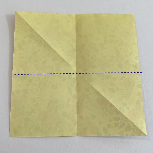 カタツムリの折り紙は保育園の製作にも!折り方作り方 (3)