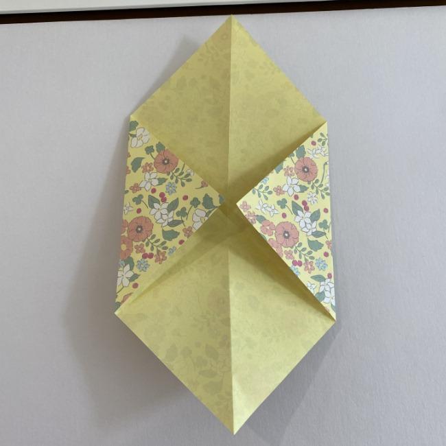カタツムリの折り紙は保育園の製作にも!折り方作り方 (5)