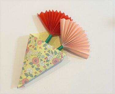 カーネーションの折り紙(はさみなし)でOK♪幼稚園の子どもにオススメな折り方作り方