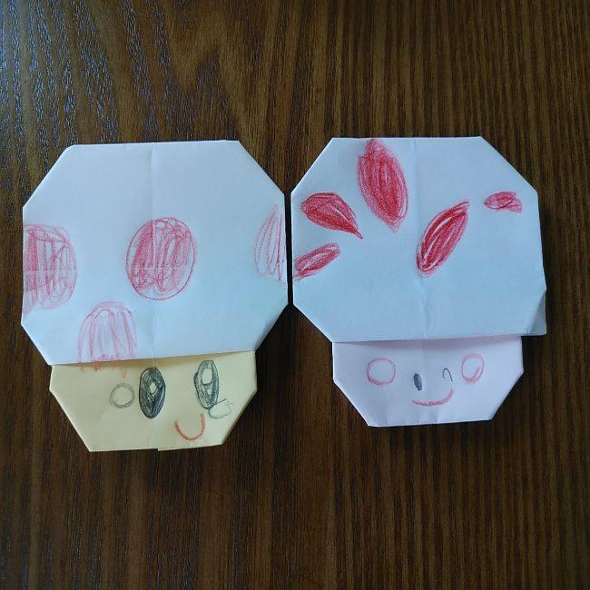 キノピオの折り方は簡単!子供と作ってみたよ♪