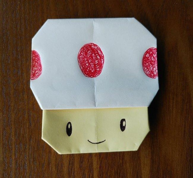 キノピオ 折り紙の折り方作り方は簡単!子供と作ったマリオのかわいいキャラクター