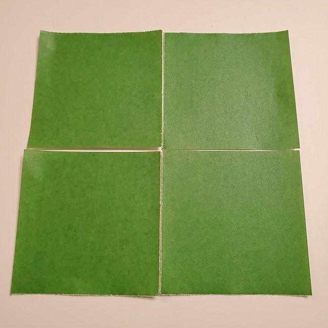 クローバーを折り紙4枚でつくろう!