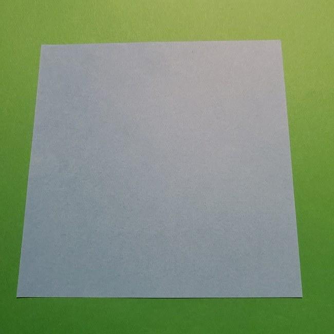ゲッコウガの折り紙 折り方作り方1顔 (1)