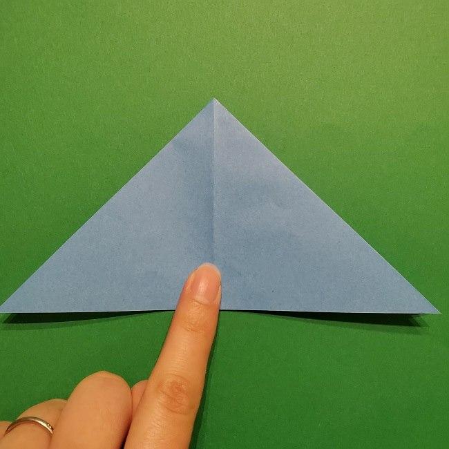 ゲッコウガの折り紙 折り方作り方1顔 (10)