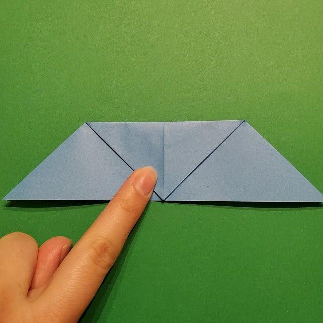 ゲッコウガの折り紙 折り方作り方1顔 (11)