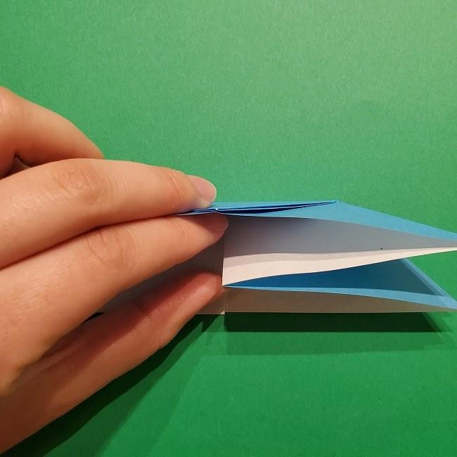 ゲッコウガの折り紙 折り方作り方1顔 (12)