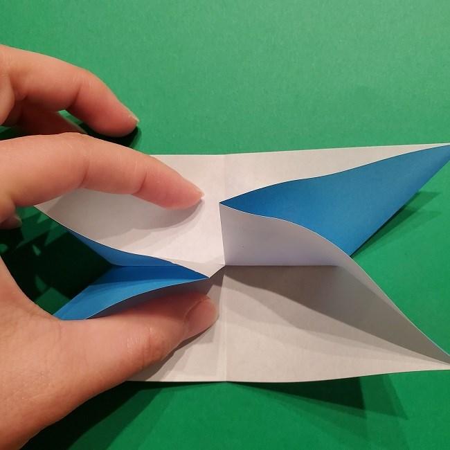 ゲッコウガの折り紙 折り方作り方1顔 (13)