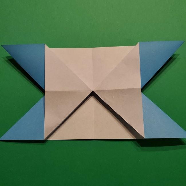 ゲッコウガの折り紙 折り方作り方1顔 (14)