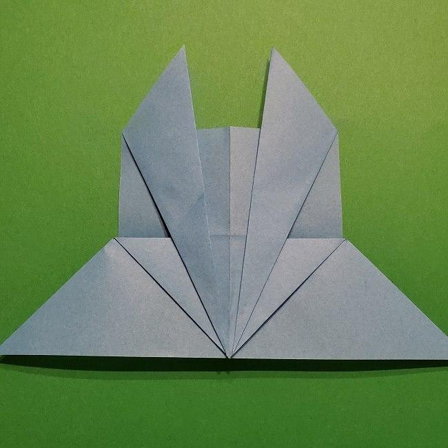 ゲッコウガの折り紙 折り方作り方1顔 (16)